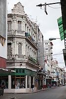 Cuba, Havana.  Early Morning Street Scene, Central Havana.