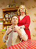 The Heart of Things <br /> by Giles Cole<br /> at The Jermyn Street Theatre, London, Great Britain <br /> press photocall<br /> 10th March 2015 <br /> <br /> <br /> <br /> Nick Waring as Peter Calder <br /> <br /> Patience Tomlinson as Ros Calder<br /> <br /> <br /> Photograph by Elliott Franks <br /> Image licensed to Elliott Franks Photography Services