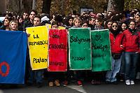 Roma 25 Novembre 2010.Manifestazione degli studenti universitari contro il Ddl Gelmini  e contro  i tagli all'università e alla ricerca.. Demonstration of university students  against  Ddl Gelmini and against cuts to university and research.