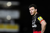Duncan Taylor of Saracens looks on during a break in play. Aviva Premiership match, between Bath Rugby and Saracens on April 1, 2016 at the Recreation Ground in Bath, England. Photo by: Patrick Khachfe / Onside Images