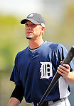 11 March 2008: Detroit Tigers' outfielder Clete Thomas warms up prior to a Spring Training game against the Cleveland Indians at Chain of Lakes Park, in Winter Haven Florida.The Tigers rallied to defeat the Indians 4-2 in the Grapefruit League matchup....Mandatory Photo Credit: Ed Wolfstein Photo