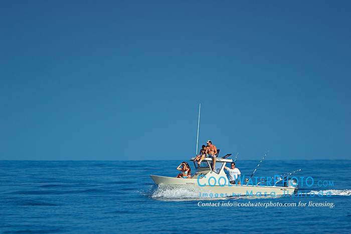 Family fishing boat, off Kona, Big Island, Hawaii, Pacific Ocean