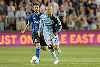 Aurelien Collin (78) defender Sporting KC in action.<br /> Montreal Impact defeated Sporting Kansas City 2-1 at Sporting Park, Kansas City, Kansas.