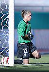 """16 October 2004: Nicole Barnhart warms up before the game. The United States defeated Mexico 1-0 at Arrowhead Stadium in Kansas City, MO in an women's international friendly soccer game as part of the U.S.'s """"Fan Celebration Tour.""""."""