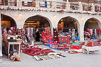 """Doha, Qatar. Recently Modernized """"Traditional"""" Rug Market, patronized both by local buyers and by tourists."""