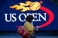A woman visits the USTA Billie Jean King National Center during the US Open 2014 tennis tournament in New York.  08.29.2014. VIEWpress