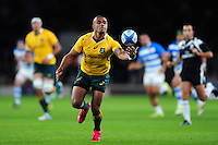 Will Genia of Australia looks to catch the ball. The Rugby Championship match between Argentina and Australia on October 8, 2016 at Twickenham Stadium in London, England. Photo by: Patrick Khachfe / Onside Images
