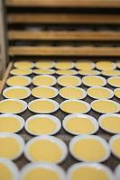 Europe/France/Provence-Alpes-Côte d'Azur/Alpes-Maritimes/Nice:  Fabrication des pâtes à la Maison Quirino - les Panisses avant la cuisson  // Europe, France, Provence-Alpes-Côte d'Azur, Alpes-Maritimes, Nice:  Quirino, This place, representative of traditional Niçois craftsmanship, is classic for Niçois-style raviolis, fresh pastas , Panisses