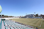 24 February 2013: A view of WakeMed Stadium's new upper East Stand from the West Stand pressbox. The NASL Carolina RailHawks played MLS's Vancouver Whitecaps FC at WakeMed Stadium in Cary, North Carolina in a 2013 preseason game. Vancouver won the game 3-0.