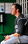10 July 2011: Colorado Rockies third baseman Ian Stewart sits in the dugout during a game against the Washington Nationals at Nationals Park in Washington, District of Columbia. The Nationals shut out the visiting Rockies 2-0 salvaging the last game their 3-game series at home prior to the All-Star break. Mandatory Credit: Ed Wolfstein Photo