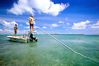 flats fishing, .Stiltsville, Biscayne National Park, .Florida (Atlantic).