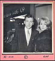 BNPS.co.uk (01202 558833)<br /> Pic: DominicWinter/BNPS<br /> <br /> Bobby Darrin &amp; Sandra Dee.<br /> <br /> A remarkable set of 430 candid photographs of Hollywood royalty have been unearthed after 50 years.<br /> <br /> Included in the collection of unpublished pictures are snaps of silver screen icons Paul Newman, Charlie Chaplin, Bette Davis, Audrey Hepburn, and Dean Martin.<br /> <br /> Paul Newman is captured looking over his shoulder at the wheel of his car and Charlie Chaplin is pictured without his trademark moustache. <br /> <br /> Audrey Hepburn has posed with her then husband actor Mel Ferrer while Bette Davis can be seen puffing on a cigarette.<br /> <br /> The snaps were taken by obsessive amateur photographer Dwight 'Dodo' Romero from 1954 to 1967 who would hang around at Hollywood parking lots and other hang-outs to catch a glimpse of the stars.<br /> <br /> The photos, which more recently belonged to a book dealership in York, have emerged for auction and are tipped to sell for &pound;800.