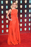 Jessica Brown Findlay at the 2017 EE British Academy Film Awards (BAFTA) held at The Royal Albert Hall, London, UK. <br /> 12 February  2017<br /> Picture: Steve Vas/Featureflash/SilverHub 0208 004 5359 sales@silverhubmedia.com