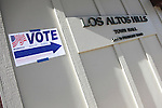 Although the vote-by-mail and provisional ballot box at Los Altos Hills Town Hall was overflowing early in the day, the Santa Clara Registrar of Voters delivered a new box to the polling precinct by 11 a.m.