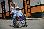 Resident enjoy a day in the town of Jardin in Antioquia August 1, 2012. Photo by Eduardo Munoz Alvarez / VIEW.