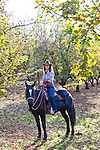 Sarah Hahn, cowgirl for Equestrian Wine tours in Dundee, Oregon which leads tours of wineries on horseback.  The tours are on gaited Tennessee Walking Horses.  Sarah is also the author of Gluten Free Cowgirl, a recipe book for gluten free baking.