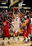 21 January 2010: University of Vermont Catamount forward Garrett Kissel, a Junior from Springfield, MA, pulls in a rebound during a game against the Stony Brook University Seawolves at Patrick Gymnasium in Burlington, Vermont. The Catamounts fell to the Seawolves 65-60 in the America East matchup. Mandatory Credit: Ed Wolfstein Photo