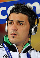 David Villa of Spain looks on before the game. Spain defeated New Zealand 5-0 during the FIFA Conferderations Cups at Royal Bafokeng Stadium, in Rustenburg South Africa on June 14, 2009.