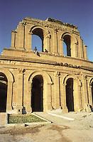 Libia  Sabratha .Citt&agrave;  romana a circa 67km da Tripoli.Teatro Romano.<br /> Sabratha Libya.Roman city about 67km from Tripoli.<br /> Roman Theatre