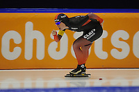 SCHAATSEN: HEERENVEEN; 11-10-2014, IJstadion Thialf, KNSB Trainingswedstrijd, Antoinette de Jong, ©foto Martin de Jong