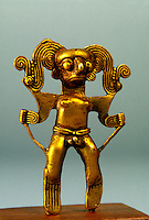 PRE-COLOMBIAN STATUE<br /> (Variations Available)<br /> Chiriqui Style Man Made Of Gold &amp; Copper Alloy.