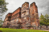 This massive cathedral-like structure was built by a Sri Lankan king almost a thousand years ago. It is unusually large for a Buddhist shrine. (Photo by Matt Considine - Images of Asia Collection)