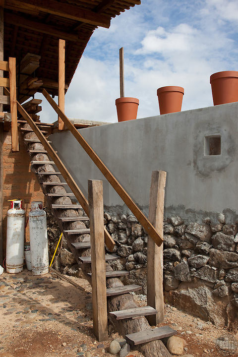 """Staircase in Mexico"" - This cool staircase was photographed near Puerto Vallarta, Mexico."
