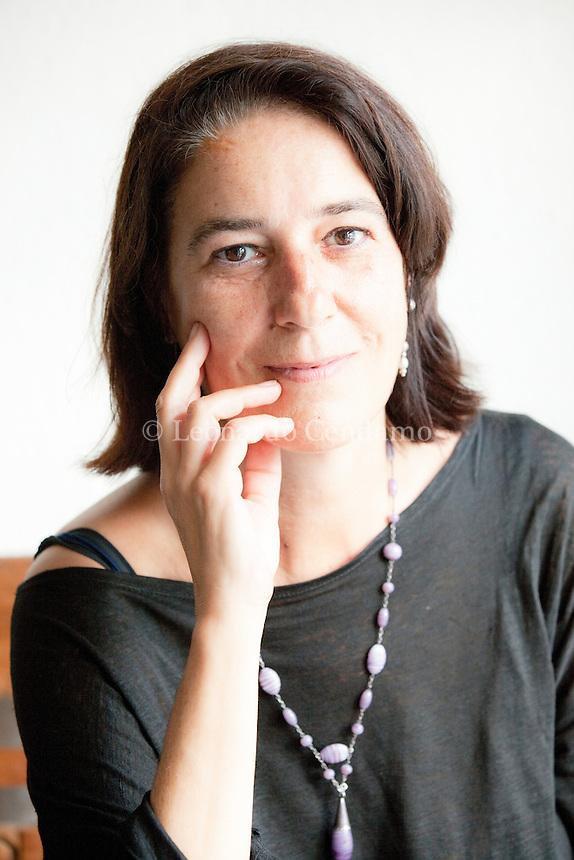 Maria Perosino. italian writer, Milan, giugno 2012. © Leonardo Cendamo