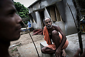 An elder is seen attending a meeting at the village Dhinkhia, in Orissa, India. Proposed steel project would displace all families of this village so they are determined not to leave their soil. If the plant is constructed, the villagers from Dhinkia will be the first ones to be displaced.