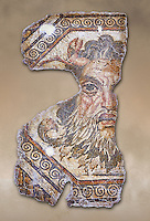 2nd century AD Roman mosaic depictiong Neptune. From Augusti (Sidi El Heni), Tunisia.  The Bardo Museum, Tunis, Tunisia.