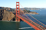October 10, 2004; San Francisco, CA, USA; Aerial view of the Golden Gate Bridge in San Francisco, CA. Photo by: Phillip Carter