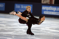 November 19, 2005; Paris, France; Figure skating stars ISABELLE DELOBEL and OLIVIER SCHOENFELDER of France skate to silver in ice dancing at Trophee Eric Bompard, ISU Paris Grand Prix competition.  They are one of the favorites in ice dancing for medals leading up to Torino 2006 Olympics.<br />