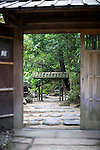 Photo shows  the main torii entrance to the Honma Museum of Art in Sakata, Yamagata Prefecture, Japan, on July 06, 2012. Photographer: Robert Gilhooly