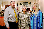 TORRINGTON CT. 26 April 2017-042617SV01-Joel Sekorski, director services for the elderly, talks with Sandra Richard, vice chairman, and Carol Buice, chairperson, during a Recognition Breakfast at the Elks Club in Torrington Wednesday. The service for the Elderly department, Sullivan Senior Center and Nutrition program honored their Volunteers. <br /> Steven Valenti Republican-American