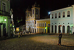 View of landmark world heritage site Pelourinho Square at the brazilian town of Salvador da Bahia.