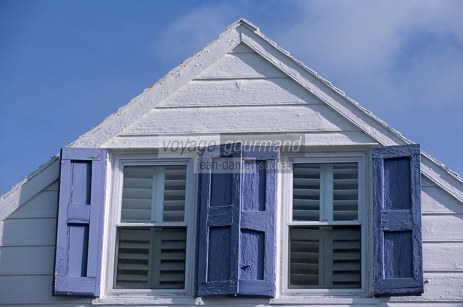 """Les Bahamas /Ile d'Eleuthera/Harbour Island/Dunmore Town: Hotel """"Le Landing"""" situé dans une demeure en bois datant de 1800"""