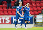 St Johnstone v Hamilton Accies...10.05.11.Liam Craig celebrates his goal with Andy Jackson.Picture by Graeme Hart..Copyright Perthshire Picture Agency.Tel: 01738 623350  Mobile: 07990 594431