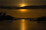 Midnight Sunset, from cabin at Little Tutka Bay, Alaska