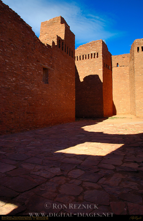 Nave, Transept and Apse, Quarai Mission, Nuestra Senora de Purisima Concepcion de Cuarac, Salinas Pueblo Missions National Monument, Mountainair, New Mexico