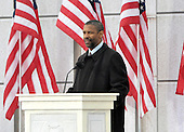 "Washington, DC - January 18, 2009 -- Denzel Washington reads a historical passage at the ""Today: We are One - The Obama Inaugural Celebration at the Lincoln Memorial"" in Washington, D.C. on Sunday, January 18, 2009..Credit: Ron Sachs / CNP.(RESTRICTION: NO New York or New Jersey Newspapers or newspapers within a 75 mile radius of New York City)"