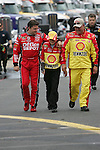 Lowes 50th 600 Jim Dedmon - Tony Stewart at start of 600 mile race at Lowes Motor Speedway