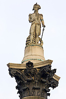 Nelson's Column monument to Admiral Lord Nelson in Trafalgar Square, London, United Kingdom