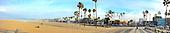 Stock photo panorama of Venice Beach California