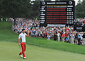 Ryo Ishikawa (JPN),AUGUST 7, 2011- Golf :Ryo Ishikawa of Japan acknowledges the crowd on the 18th green as the scoreboard shows the scores during the final round of the WGC Bridgestone Invitational on the South Course at Firestone Country Club in Akron, Ohio, United States. (Photo by AFLO)
