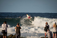 Snapper Rocks, Coolangatta Queensland Australia (Monday, March 14 2016): Gabriel Medina (BRA)  - Round Two of the first WCT event of the year, the Quiksilver Pro Gold Coast, was completed this morning followed by Round Three and two heats of Round Four.  The upsets continued with the Tour Rookies taking out out a good proportion of the heats with Stu Kennedy(AUS) again showing great form by defeating Gabriel Medina (BRA). The event was put on hold for over 2 hours while organisers waited for the tide to drop. The surf was in the 4'-5' range most of the day.Photo: joliphotos.com