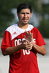 04 September 2009: NC State's Alan Sanchez. The North Carolina State University Wolfpack defeated the University of Denver Pioneers 4-0 at Koskinen Stadium in Durham, North Carolina in an NCAA Division I Men's college soccer game.