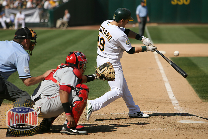 Marco Scutaro. Baseball: Los Angeles Angels of Anaheim vs Oakland Athletics at McAfee Coliseum in Oakland, CA on September 23, 2006. Photo by Brad Mangin