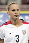 Oct 13 2007:   Christie Rampone (3) of the US WNT.  The US Women's National Team defeated Mexico 5-1 at the Edward Jones Dome in St. Louis on October 13th in their first of three expo matches.