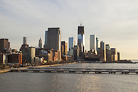 Sunset over lower Manhattan in December