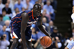 02 February 2015: Virginia's Marial Shayok (CAN). The University of North Carolina Tar Heels played the University of Virginia Cavaliers in an NCAA Division I Men's basketball game at the Dean E. Smith Center in Chapel Hill, North Carolina. Virginia won the game 75-64.